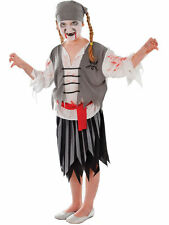 Pirate Zombie Girls Childrens fancy dress costume Medium Halloween kids