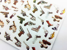 150pcs Guns Pistols Stickers Craft Scrapbooking Diary Pencil Case Toys Army lot