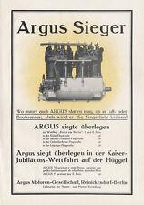 Argus motores sociedad Berlin Reinickendorf cartel braunbeck motor a3 567
