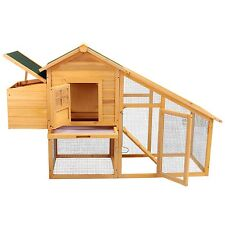 "Wooden 75"" Chicken Coop Poultry Cage Hen House Rabbit Hutch Backyard w/Nest Box"