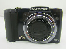 Olympus Model No. SZ-20 Black Digital Camera Tested Works No Charger
