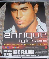 ENRIQUE IGLESIAS One Night Stand Tour tour poster 34 x 23 2002 original