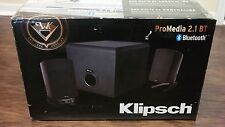 Klipsch ProMedia 2.1 BT Computer Sound System Speakers Black