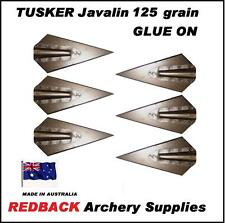 Tusker Javalin GLUE ON 125grn Broadheads for Hunting Arrows 6 Pack