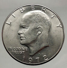 1972  President Eisenhower Apollo 11 Moon Landing Dollar USA Coin  i46151