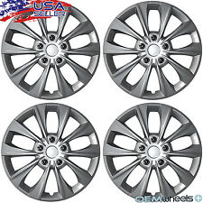 """4 NEW SILVER GREY 16"""" WHEEL COVERS SET HUB CAPS FIT VOLKSWAGEN VW CAR ABS CENTER"""