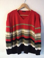 CPM Collection Acrylic Mix Knit Jumper Size XXL Red/Black/Olive Stripe  R11003