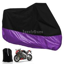Universal XXXL Waterproof Purple Motorcycle Rain Dust Cover For Harley Davidson