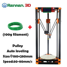 New Cheap Delta Kossel Rostock Reprap DIY 3d Printer LX with Auto Leveling
