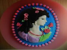 Cameo Girl silicone Mould cake Decoration fondant Ice mold soap Chocolate