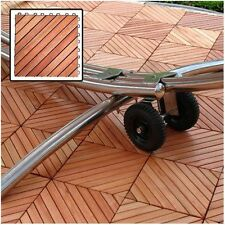 Vifah Outdoor Wood Deck Tiles - Brown