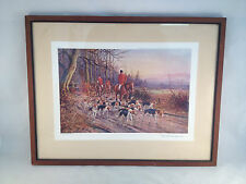 The End of the Day Framed Fox Hunting Print by J. Halford Ross No. 214