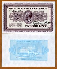 Isle of Sodor, 5 shillings, Limited Private issue, Specimen, UNC   KGV, Train