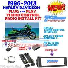 96-2013 HARLEY TOURING RADIO INSTALL ADAPTER W THUMB CONTROL, DASH KIT STEREO CD