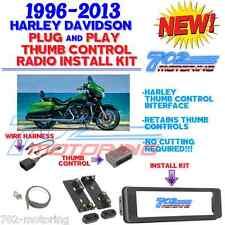 96-2013 HARLEY TOURING RADIO INSTALL ADAPTER W THUMB CONTROL, DASH KIT STEREO CD