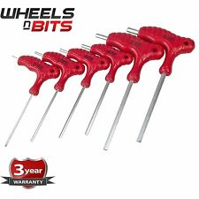 6pc T Handle Hex Key Set 2 2.5 3 4 5 6mm Allen Key Wrench Double Ended CR-V
