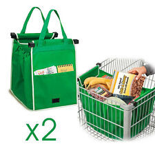 Lot De 2 Sac Courses Commissions Grap Bag Spécial Caddie Chariot Avec Poche Neuf