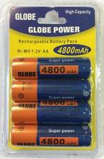 Globe Power 4er PACK BATTERIA AA 4800mah 1.2 V Rechargeable RICARICABILE