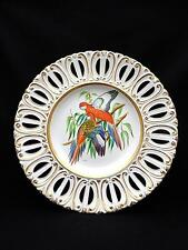 "Vintage SIGNED Ugo Zaccagnini Hand Painted 13"" Plate PARROTS Artist Signed CORSI"