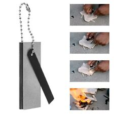 Survival Magnesium Block Flint Fire Starter Striker Lighter Emergency Army