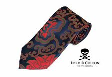 Lord R Colton Masterworks Tie Navy & Red Madness Floral Silk Necktie $195 New