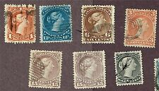 CANADA LARGE QUEENS #24 28 25 21 27 29 X2, F-VF   (FAY10