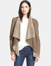 NWT $1475 VINCE Cascade Genuine Shearling Jacket olive real fur sz. L sale NEW