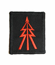 Colour - Red on Black Recce Tree Badge ( Reconnaissance Corp Platoon Troop TRF
