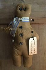Primitive Country Christmas Ginger Bread Man Doll Ornie