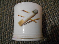 Old Vintage Stone China (w/ Bow & Arrow sign) Cigarette Cup Mug Matches Tobacco