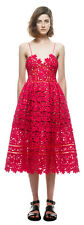 AUTHENTIC Self Portrait AZAELEA Rose RED Cutout LACE Dress US4 NEW +BOTH TAGS
