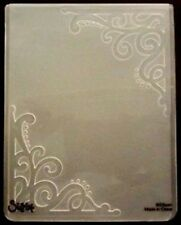 Sizzix Large 4.5x5.75in Embossing Folder ORNATE CORNERS #2 fits Cuttlebug