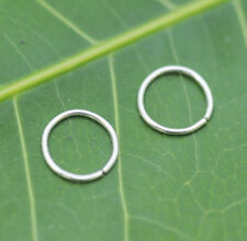 Nose Ring Hoops-Helix-Tragus Cartilage Earrings ONE PAIR Sterling Silver 24g 7mm