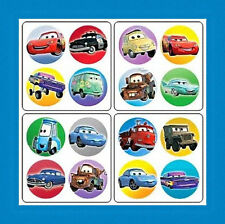 64 Disney Cars Dot Stickers (16 Sheets) Party Favors