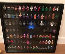 Large Lego Batman Logo Mini Figure Display Frame Case LED Light.