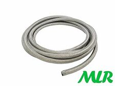 8MM ID STAINLESS STEEL BRAIDED RUBBER FUEL INJECTION HOSE PIPE 1/2 METER BAH.5