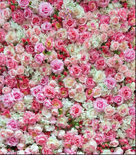 PINK ROSES FLOWER WALLPAPER BACKDROP BACKGROUND VINYL PHOTO PROP 5X7FT 150x220CM
