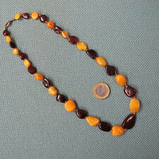 Bernsteinkette mehrfarbig Baltic Amber butterscotch multicolored necklace 18,93