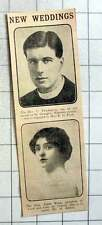 1915 The Rev C Thicknesse Engaged To Miss R Pratt, Edith Winn To Marry H Ashley