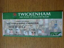 15/01/2005 Ticket: Rugby Union - At Twickenham - NEC Harlequins v Munster (Creas