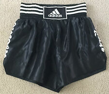 ADIDAS THAI BOXING SHORT ADISTH01 BLACK WHITE MEDIUM 32-34 INCH