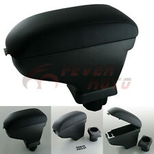 For Black NISSAN VERSA TIIDA Leather Center Console Armrest Storage Holder FM