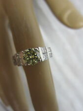 STUNNING ESTATE 14 KT GOLD 2.02 CTW FANCY YELLOW DIAMOND RING 5.7 GRAMS !!!!!!
