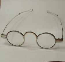 ANTIQUE 18th CENTURY SOLID SILVER ROUND SPECTACLES GLASSES Georgian era.