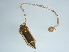 PENDOLINO CHE SI APRE metallo ORO pendolo egizio radioestesia divinazione reiki