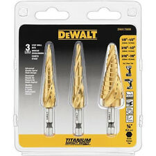 DEWALT 3pc Impact Ready Step Drill Bit Set DWA1790IR New