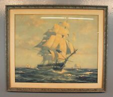 "Gordon Grant 1927 Ship Watercolor Painting Print 16""x 20"""