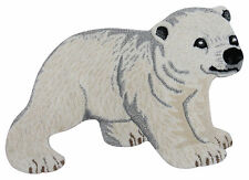 Baby Polar Bear Wool Rug 2'x3' Handmade Animal lovers - Kids Decor Nursey