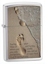 Zippo 28180 footprints and sand chrome Lighter