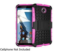 rooCASE Magenta Heavy Duty Armor Hybrid Rugged Stand Case for Google Nexus 6 RCN